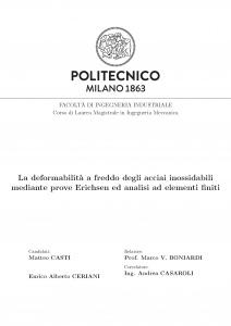 Politecnico Milano Tesi